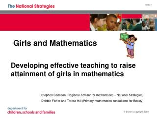 Girls and Mathematics