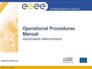 Operational Procedures Manual