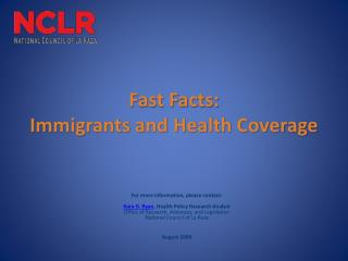 Fast Facts: Immigrants and Health Coverage
