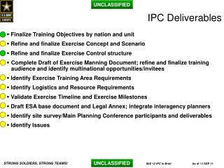 IPC Deliverables