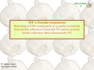 WP 1: Genetic ressources