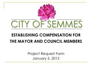 ESTABLISHING COMPENSATION FOR THE MAYOR AND COUNCIL MEMBERS