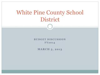 White Pine County School District
