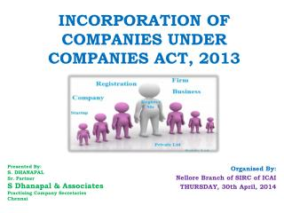 INCORPORATION OF COMPANIES UNDER COMPANIES ACT, 2013