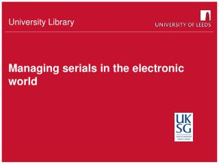 Managing serials in the electronic world