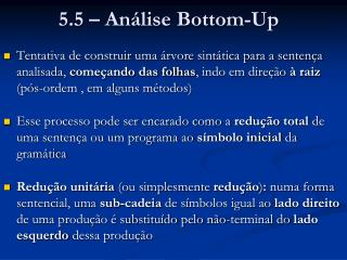5.5 – Análise Bottom-Up
