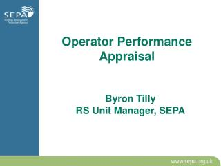 Operator Performance Appraisal