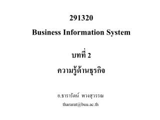 291320 Business Information System