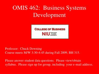OMIS 462:  Business Systems Development