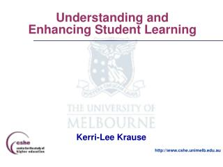 Understanding and Enhancing Student Learning