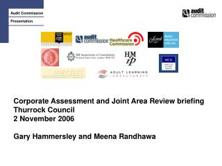 Corporate Assessment and Joint Area Review briefing Thurrock Council 2 November 2006