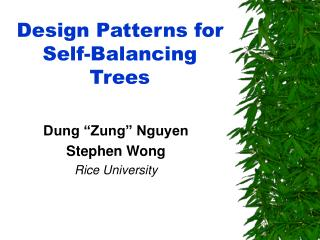 Design Patterns for Self-Balancing Trees