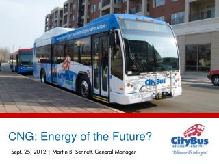 Sept. 25, 2012 | Martin B. Sennett, General Manager