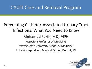 CAUTI Care and Removal Program