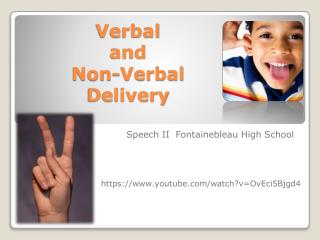 Verbal  and  Non-Verbal  Delivery