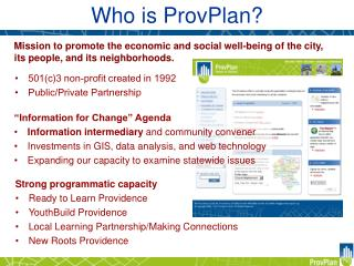 Who is ProvPlan?