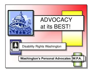 ADVOCACY     at its BEST!