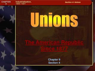 The American Republic Since 1877 Chapter 9 Section 4