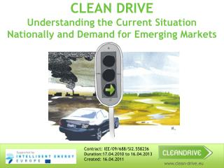 CLEAN DRIVE  Understanding the Current Situation Nationally and Demand for Emerging Markets
