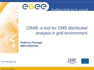CRAB: a tool for CMS distributed analysis in grid environment
