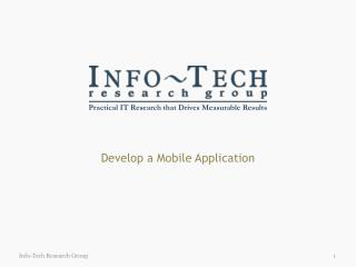 Develop a Mobile Application