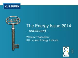 The Energy Issue 2014 - continued -