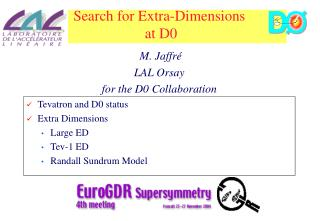 Search for Extra-Dimensions  at D0