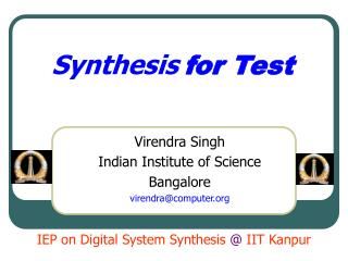 Synthesis for Test