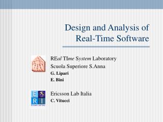 Design and Analysis of  Real-Time Software