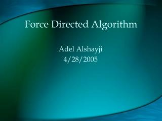 Force Directed Algorithm