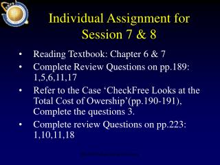 Individual Assignment for Session 7 & 8