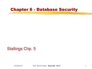 Chapter 6 - Database Security
