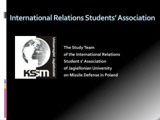 International  Relations Students '  Association