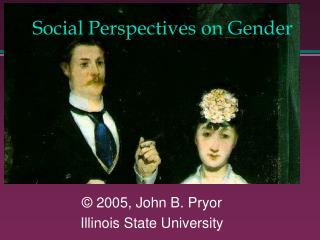 Social Perspectives on Gender