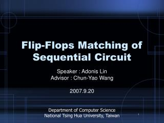 Flip-Flops Matching of Sequential Circuit