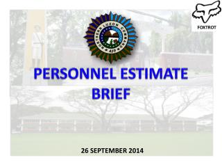 PERSONNEL ESTIMATE BRIEF