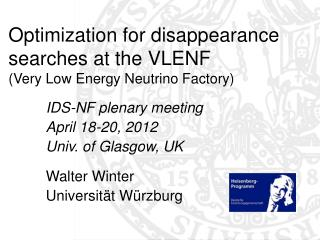 Optimization for disappearance searches at the VLENF  (Very Low Energy Neutrino Factory)