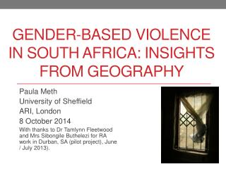 Gender-based violence in South Africa: insights from Geography