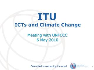 ITU  ICTs and Climate Change
