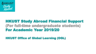 HKUST Study Abroad Financial Support (For full-time undergraduate students)
