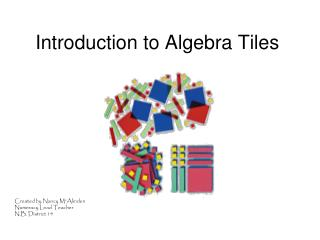 Introduction to Algebra Tiles