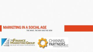 MARKETING IN A SOCIAL AGE