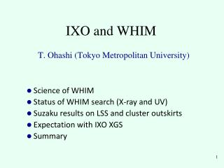 IXO and WHIM
