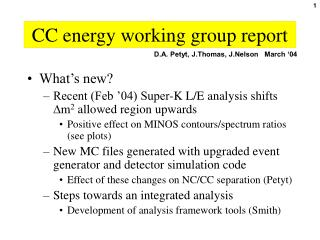 CC energy working group report
