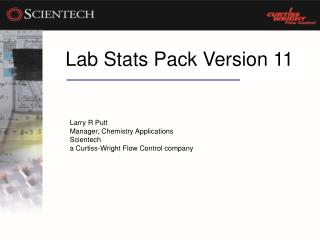 Lab Stats Pack Version 11