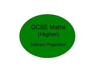 GCSE Maths (Higher)