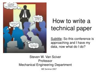 How to write a technical paper