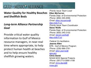 Water Quality for Healthy Beaches and Shellfish Beds