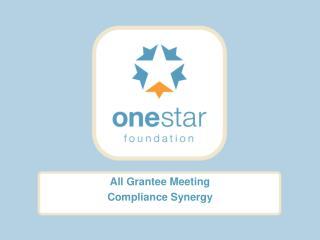 All Grantee Meeting Compliance Synergy
