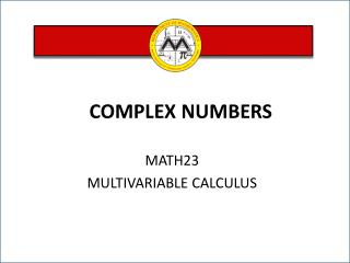MATH23 MULTIVARIABLE CALCULUS